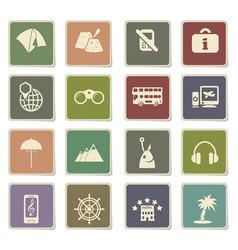 travel icon set vector image