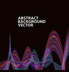 Amazing linear thread abstract black vector