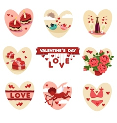 Valentines flat icons vector