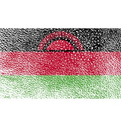 Flag of malawi with old texture vector