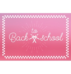 Back to school label vector