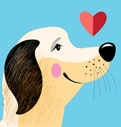 Portrait dog lover vector