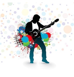 Men play a guitar vector
