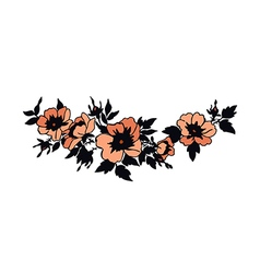 Beautiful blossoming wild rose branch vector