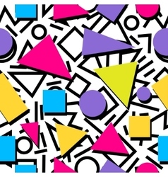 Seamless colorful abstract geometric pattern in vector