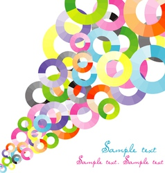 Colored background with circles and place for your vector image