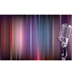 abstract grunge background with retro microphone vector image