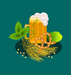 Beer festival cartoon banner vector