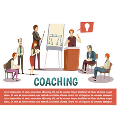 business coaching background vector image vector image
