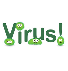 cartoon virus character on vector image