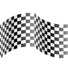 checkered curve on white design race sport vector image vector image