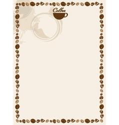 coffee and tea menu vector image vector image