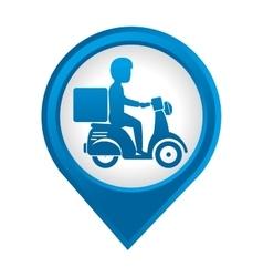delivery motorcycle service icon vector image