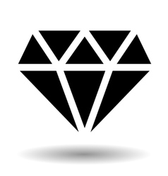 Diamond icon isolated over white vector