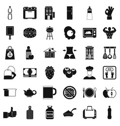 Early breakfast icons set simple style vector