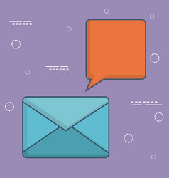 Envelope and speech bubble ico vector