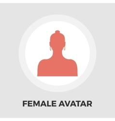 Female avatar flat icon vector image vector image