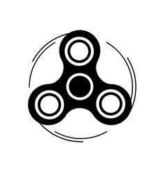 Fidget spinner icon trendy stress relieving toy vector