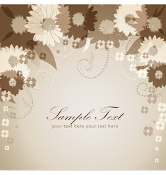 Flowers postcard vector image vector image