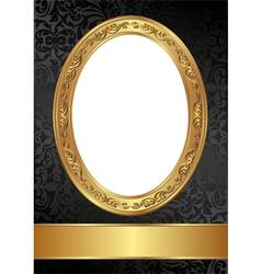gold black frame vector image vector image