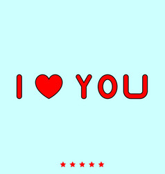 i love you it is icon vector image vector image