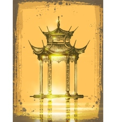 Japanese temple vector