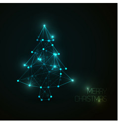 low poly christmas treepoly art vector image vector image