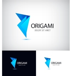 Origami fold paper link connect group abstract vector