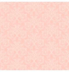 Pink damask vector