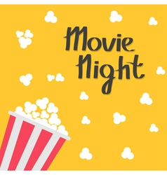 Popcorn bag Cinema icon in flat design style Left vector image vector image