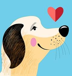 portrait dog lover vector image vector image