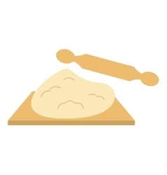 Rolling pin and pastry table isolated icon design vector