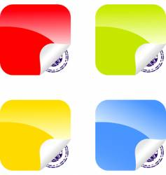 set of color labels vector image
