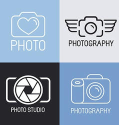 Set of photography logos vector
