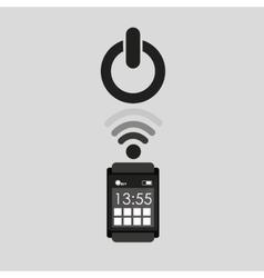 Smartwatch app start icon media graphic vector
