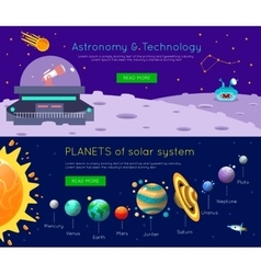 Space Universe Banner Set vector image vector image