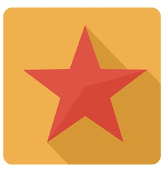 Star icon flat vector