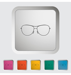 sun glasses vector image vector image