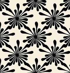 Retro black floral pattern vector