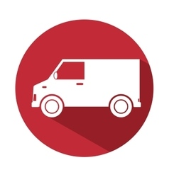 truck van delivery service design icon vector image