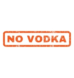 No vodka rubber stamp vector