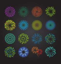 Color celebration fireworks set vector