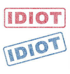 Idiot textile stamps vector