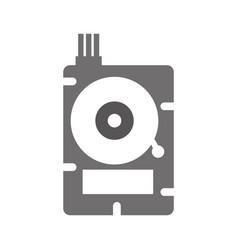 Data disk storage icon vector