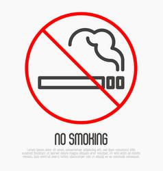 no smoking thin line sign vector image