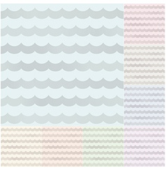 Seamless pastel wavy stripes with silvery gradient vector image