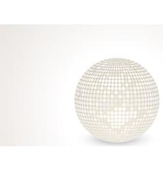 3d white disco ball vector
