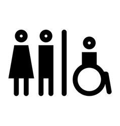Toilet wc restroom sign vector