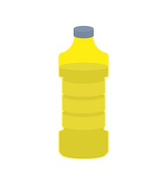 Bottle of oil sunflower on white background vector