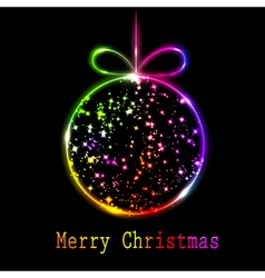 Multicolored christmas ball vector